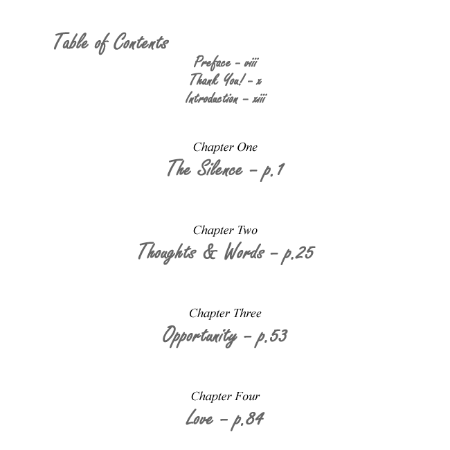 Table of Contents p.1